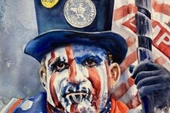 "JoAnna Chapin, ""The Patriot"", WC, 15x20, $900"