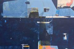 "Deborah T. Colter, ""Seaport Mystery"", mixed Media, 36x48, $5,600"