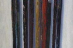 """Rick Daskam, """"Long Brushes #5"""", Oil, 16x6, $1,200"""
