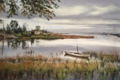 "Robert Dietz, ""Quite Sunday Morning"", Pastel, 29x21, $950"