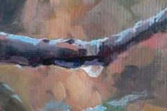 "Sara Drought-Nebel, ""March Rain"", acrylic, , $225"