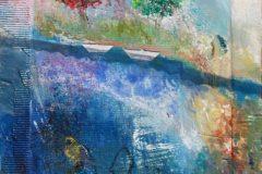 "Sunil Howlader, ""White Boat Journey"", Mixed, 35x29, $3,500"