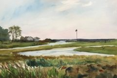 "Keiko Kaiser, ""Clinton View"", Water Color, 12x16, $300"