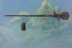 """Earl Grenville Killeen, """"In the Balance"""", watercolor, , $2,600"""