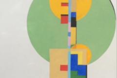 """Earl Grenville Killeen, """"Clockworks:Orange Pendulum"""", watercolor, 28x20, $1,000"""