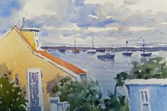 "Anita Langford, ""Viewpoint"", watercolor, 10x14, $350"