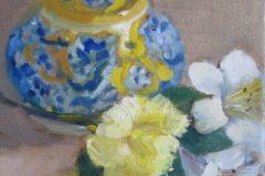 """Suzanne Lewis, """"Mallorca Ware"""", Oil, 8x8, $150"""