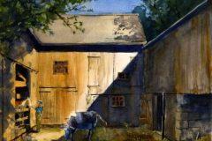 "Paul Loescher, ""Morning Greeting"", Watercolor, 13x17, $600"