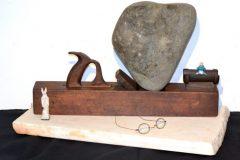"David Madacsi, ""Memento Vivere"", Found Object Assemblage, 15x26x13, $4,700"