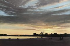 "Keith Magner, ""Last Light On Sasco Hill"", oil, 11x14, $550"