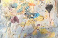 "Catherine Mansell, ""Spring Fling"", Mixed Media, Encaustic, 12x12, $350"