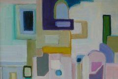 "Layne Marholin, ""Depot"", oil, 18x18, $1,100"