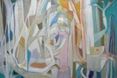 "Layne Marholin, ""Fragmented Tree"", oil, 26x34, $2,800"