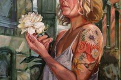 """Brian McClear, """"Gabrielle"""", Oil on Canvas, 40x30, $3,800"""