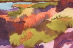 "Pamela Morgan, ""Summer To Fall"", Watercolor, 20x16, $475"