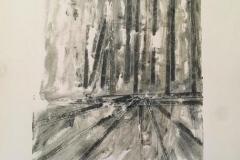 """Margo Reynolds Packer, """"Autels"""", oil monotype, 14x18, $600"""
