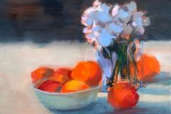 """Andi Pepper, """"Still Life #1"""", Oil, 15x18, $400"""