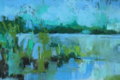 """Judy Perry, """"Abstracted Spring #1"""", pastel, 5x9, $475"""