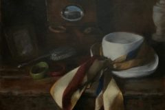 """Laurie Pribble, """"Ready to Go"""", oil on canvas, 16x20, $2,500"""