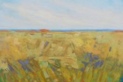"""Diana Rogers, """"Marsh in Gold"""", Pastel, 12x12, $425"""