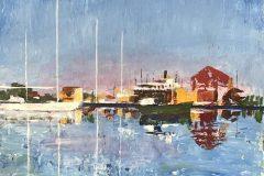 "Nick Salerno, ""Mystic Seaport"", Acrylic, 18x24, $950"