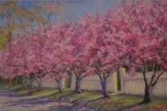 """Patricia Seekamp, """"Springtime Parade"""", pastel, 11x16.5, $475"""