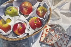 """Patricia Shoemaker, """"Summer Table"""", watercolor, 11x11, $875"""