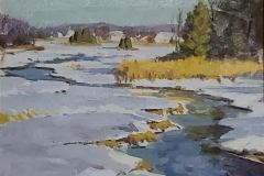 "Caleb Stone, ""Winter Creek"", oil, , $2,000"