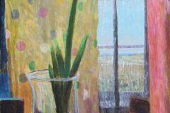 "Diana Suttenfield, ""Katherine Hepburn's Brownies"", Acrylic, 36x24, $2,000"