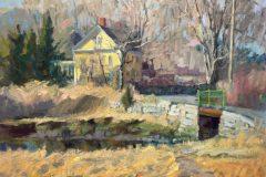 "Susan Termyn, ""Yellow House on the Marsh"", oil, 11x14, $1,400"
