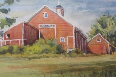 "Beverly Tinklenberg, ""Daniels Farm"", Watercolor, 8.5x15, $300"