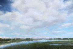 "Melanie Ward, ""Morning on the Marsh"", oil, 24x30, $1,600"