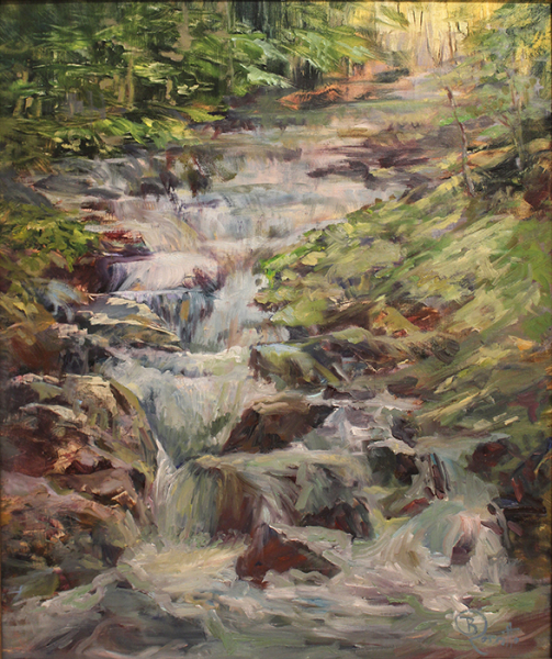 Rossitto Barbara h waterfall in the forest