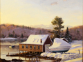 adkins Thomas frozen mist over harbor
