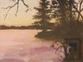 larson elfin sunset on the lake