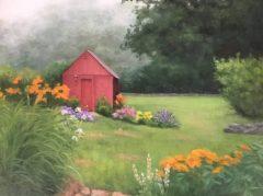"Phyllis Bevington, ""Lifting Mist"", oil, 11x14, $500"