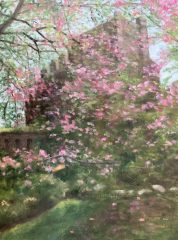 """Phyllis Bevington, """"The Castle in Spring"""", oil, 9x12, $400"""