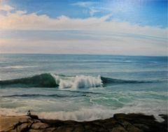 """John Canale, """"Morning Surf"""", oil, 16x20, $1,100"""