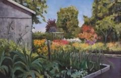 "Maura Cochran, ""Flo Gris August Garden"", oil, 20x30, $1,500"