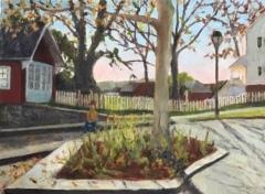 "Maura Cochran, ""The Day Biden Won-Foot of Main Essex"", oil, 12x16, $900"