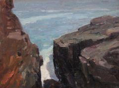 "Rick Daskam, ""The Gully"", oil, 9x12, $950"