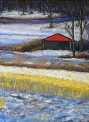 "Linda  Boisvert Destefanis, ""Colors of Winter"", pastel, 10x14, $550"