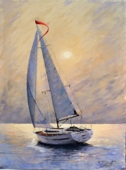 "Robert Dietz, ""Dream Boat"", pastel, 30x24, $1,100"