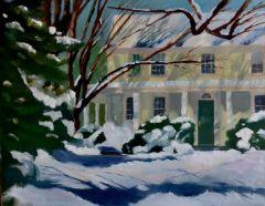 "Carol Frieswick, ""American Homestead"", oil, 11x14, $275"