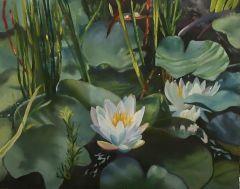 """Carol Frieswick, """"Lily Pond"""", oil, 11x14, $300"""