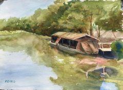 "Keiko Kaiser, ""Off Season"", watercolor, 11x15, $300"