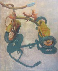 "Earl Grenville Killeen, ""Trike Remains"", watercolor, 21x25, $3,600"