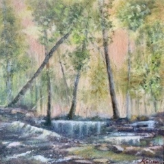 "Deborah Kotchen, ""Rainforest"", oil, 25x25, $750"
