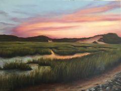 """Lisa Linehan, """"Evening Marsh"""", oil, 18x24, $2,000"""