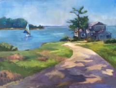 "Katherine Mann, ""Land's End"", oil, 12x16, $450"